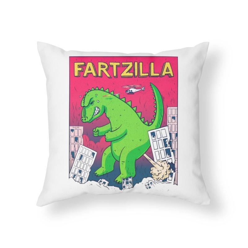 Fartzilla Home Throw Pillow by Threadless Artist Shop