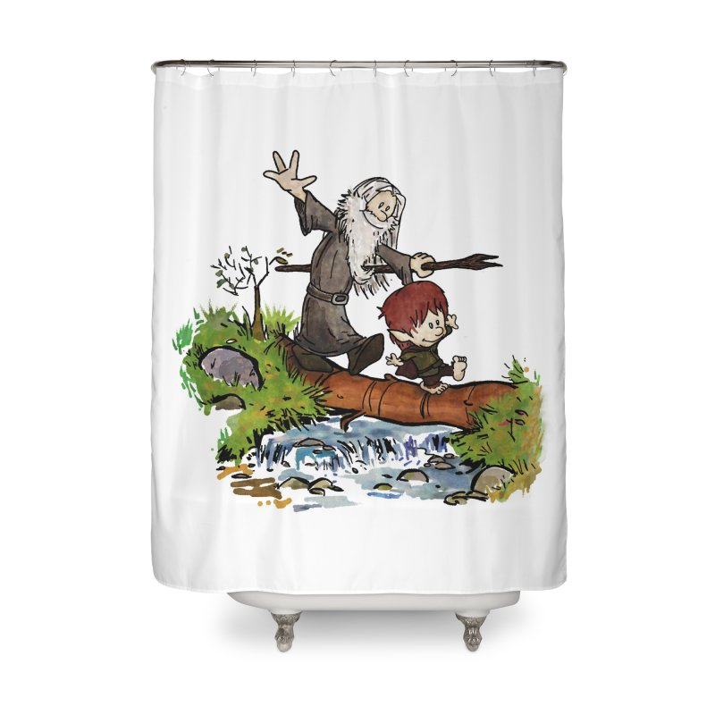 Halfling and Wizard Home Shower Curtain by Threadless Artist Shop
