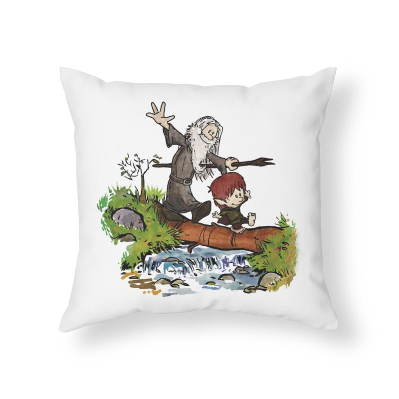 Halfling and Wizard Home Throw Pillow by Threadless Artist Shop