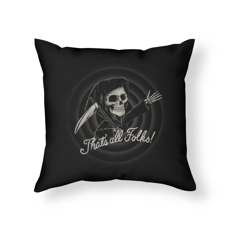 The End Home Throw Pillow by Threadless Artist Shop