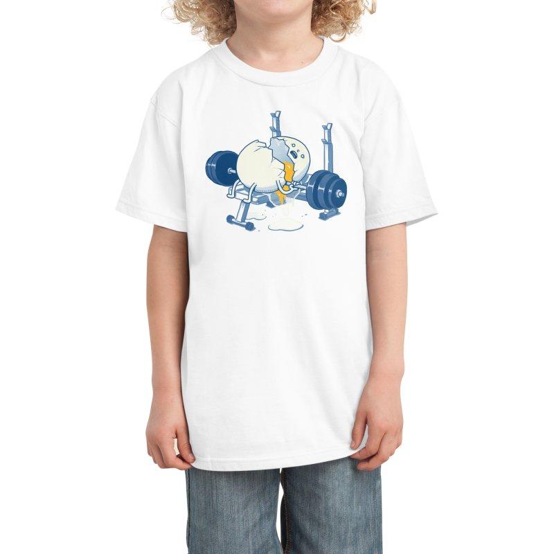 Weight Lifting Accident Kids T-Shirt by Threadless Artist Shop