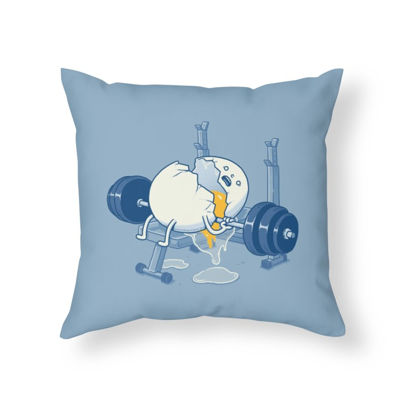 Weight Lifting Accident Home Throw Pillow by Threadless Artist Shop