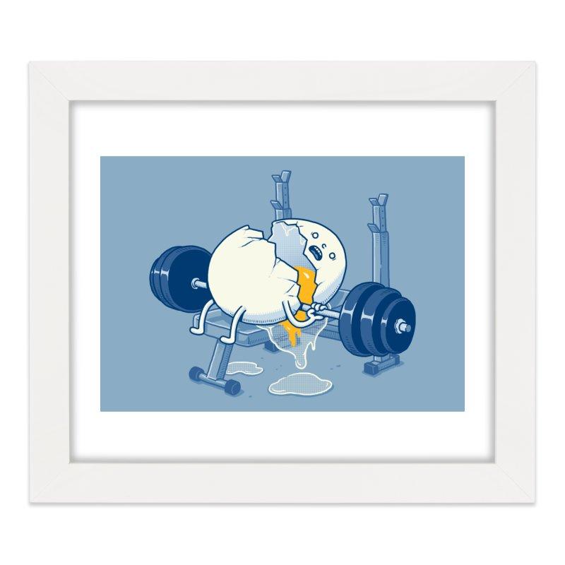 Weight Lifting Accident Home Framed Fine Art Print by Threadless Artist Shop