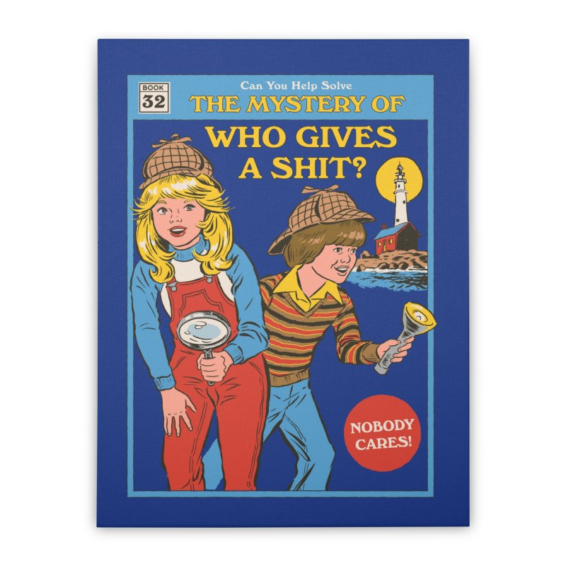 Who Gives a Sh*t? Home Stretched Canvas by Threadless Artist Shop