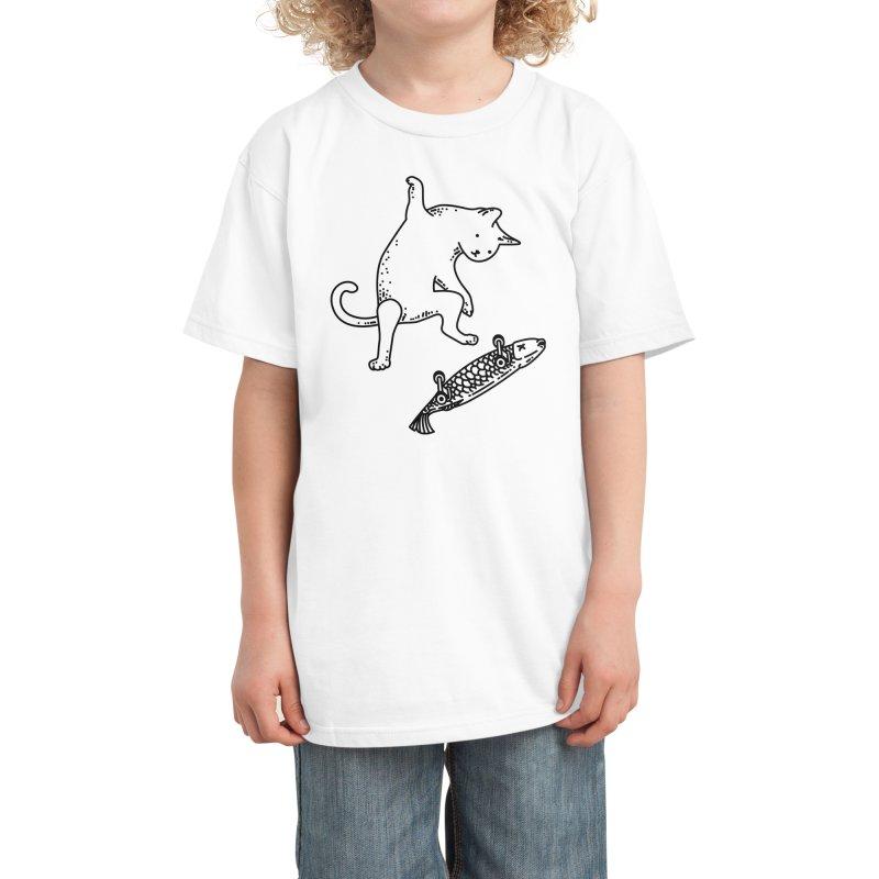 Street cat Kids T-Shirt by Threadless Artist Shop