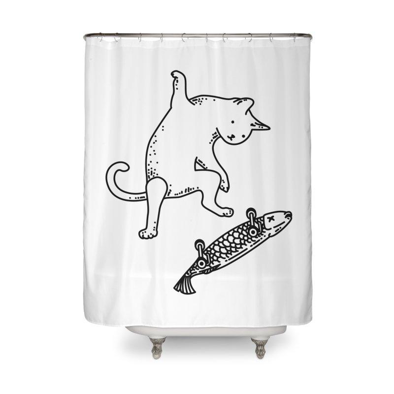 Street cat Home Shower Curtain by Threadless Artist Shop
