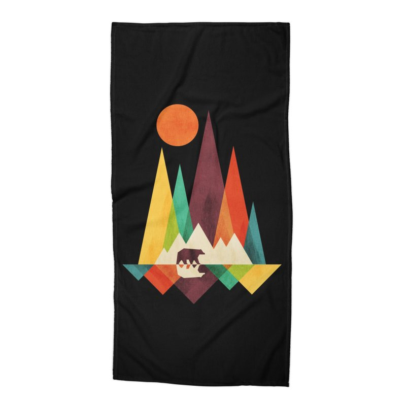 The Great Outdoors (Black Variant) Accessories Beach Towel by Threadless Artist Shop