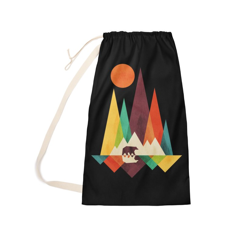 The Great Outdoors (Black Variant) Accessories Bag by Threadless Artist Shop