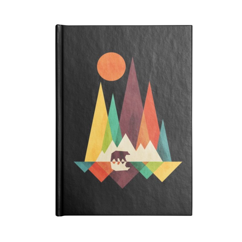 The Great Outdoors (Black Variant) Accessories Notebook by Threadless Artist Shop