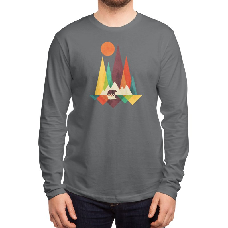 The Great Outdoors (Black Variant) Men's Longsleeve T-Shirt by Threadless Artist Shop