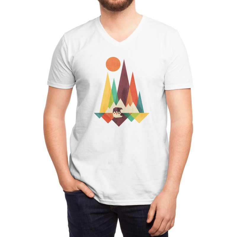 The Great Outdoors (Black Variant) Men's V-Neck by Threadless Artist Shop