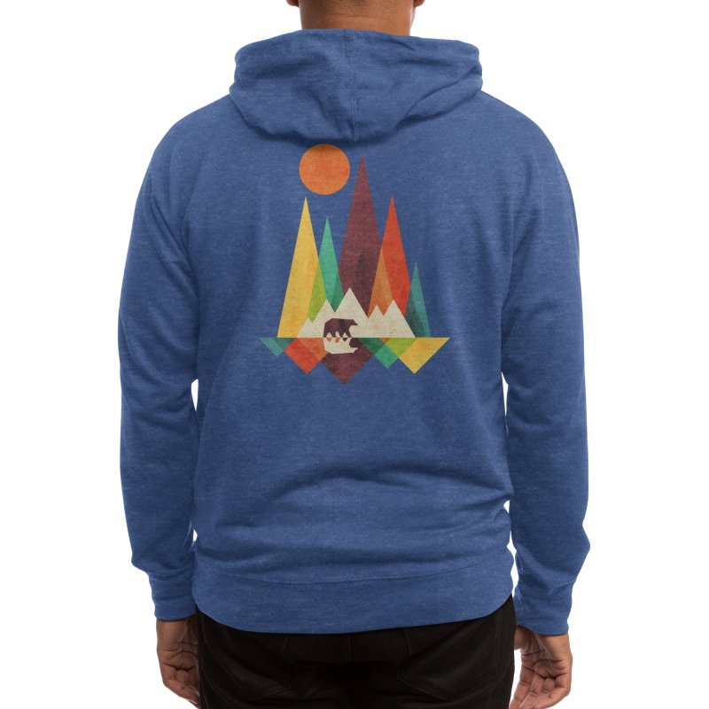 The Great Outdoors (Black Variant) Men's Zip-Up Hoody by Threadless Artist Shop