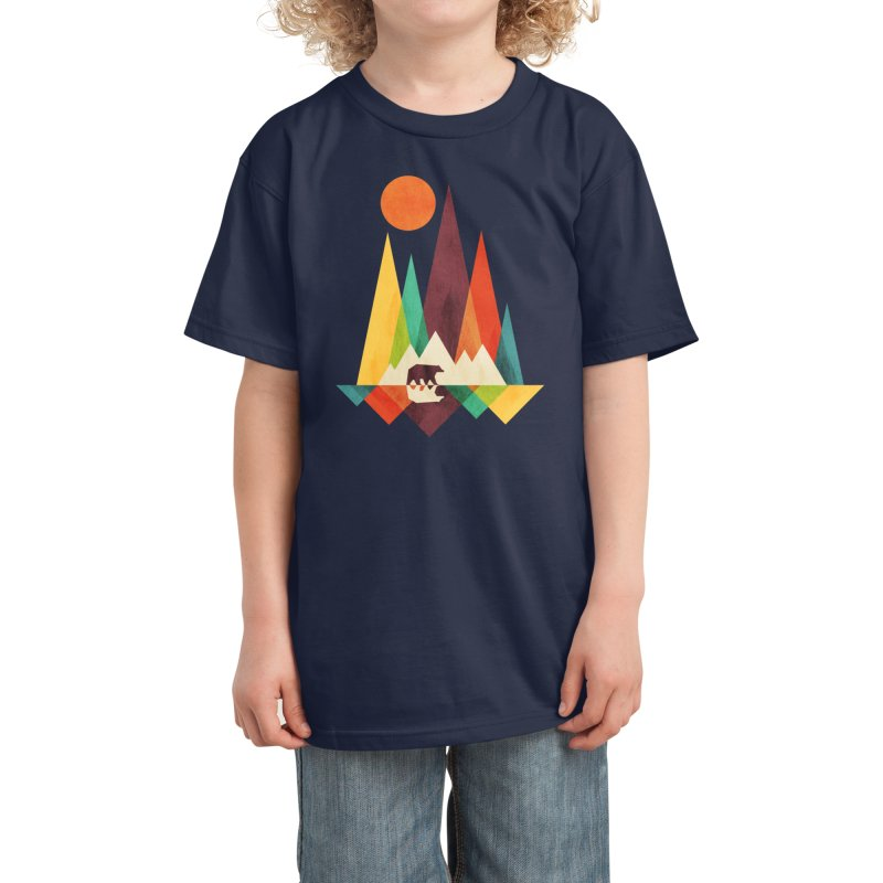 The Great Outdoors (Black Variant) Kids T-Shirt by Threadless Artist Shop
