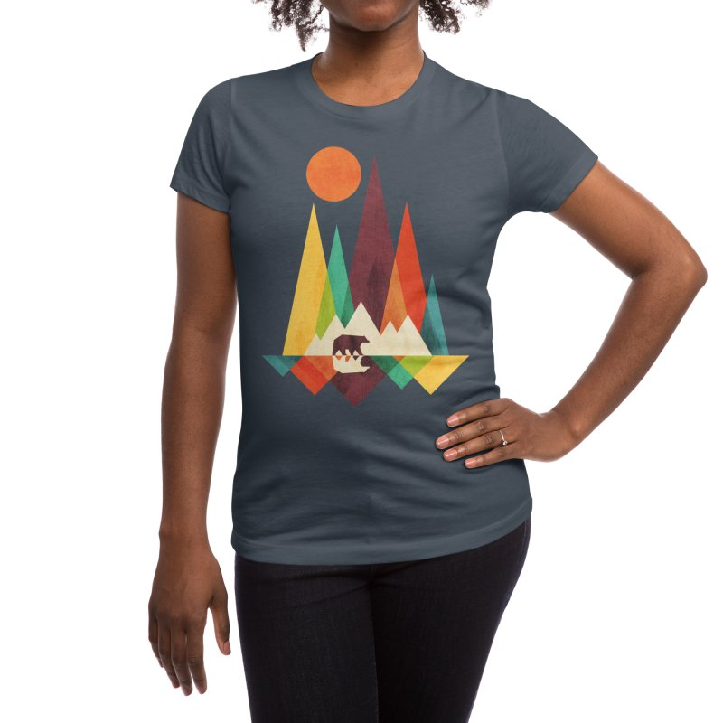 The Great Outdoors (Black Variant) Women's T-Shirt by Threadless Artist Shop