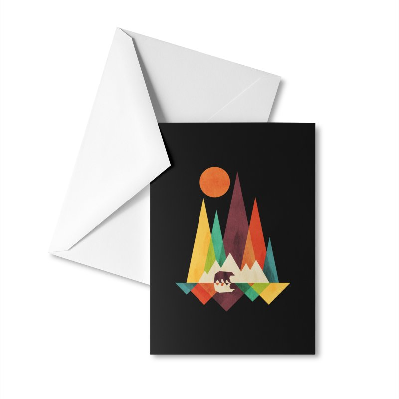 The Great Outdoors (Black Variant) Accessories Greeting Card by Threadless Artist Shop