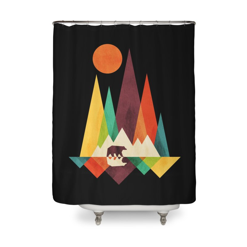 The Great Outdoors (Black Variant) Home Shower Curtain by Threadless Artist Shop