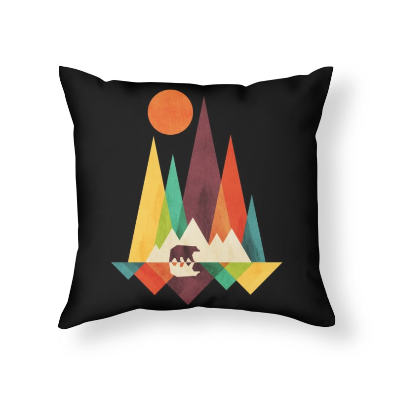 The Great Outdoors (Black Variant) Home Throw Pillow by Threadless Artist Shop