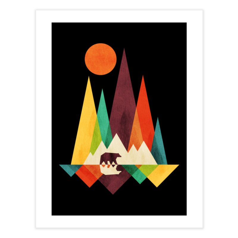 The Great Outdoors (Black Variant) Home Fine Art Print by Threadless Artist Shop