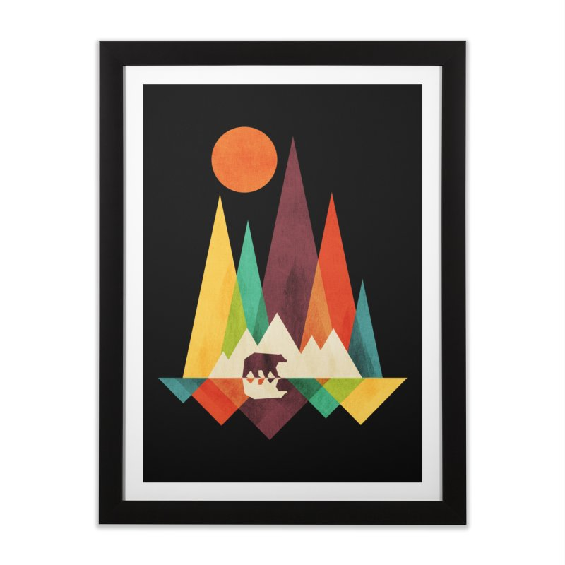 The Great Outdoors (Black Variant) Home Framed Fine Art Print by Threadless Artist Shop