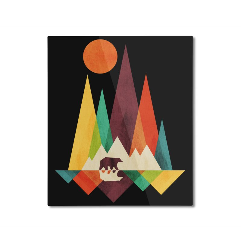 The Great Outdoors (Black Variant) Home Mounted Aluminum Print by Threadless Artist Shop