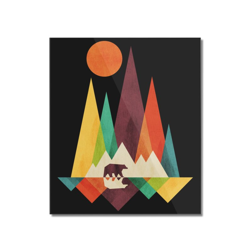 The Great Outdoors (Black Variant) Home Mounted Acrylic Print by Threadless Artist Shop