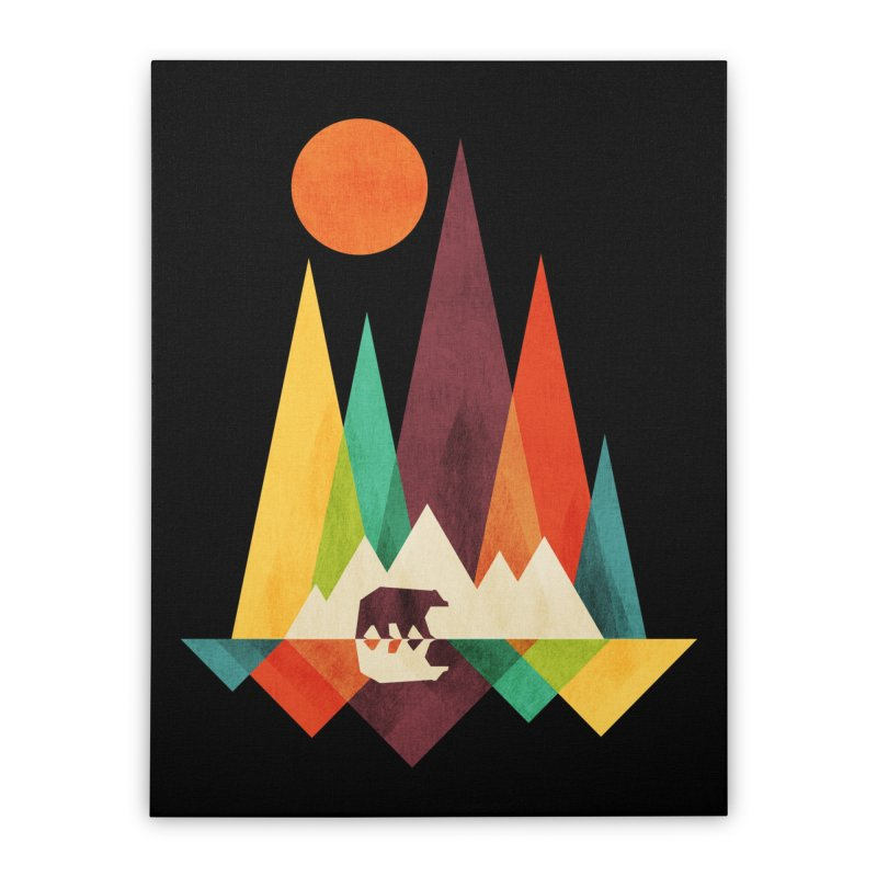 The Great Outdoors (Black Variant) Home Stretched Canvas by Threadless Artist Shop