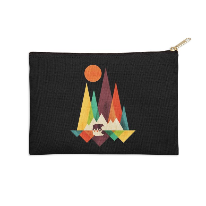The Great Outdoors (Black Variant) Accessories Zip Pouch by Threadless Artist Shop