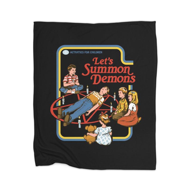 Let's Summon Demons (Black Variant) Home Blanket by Threadless Artist Shop