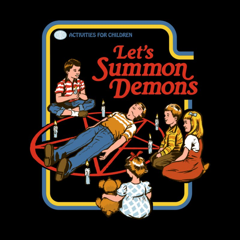 Let's Summon Demons (Black Variant) Accessories Face Mask by Threadless Artist Shop