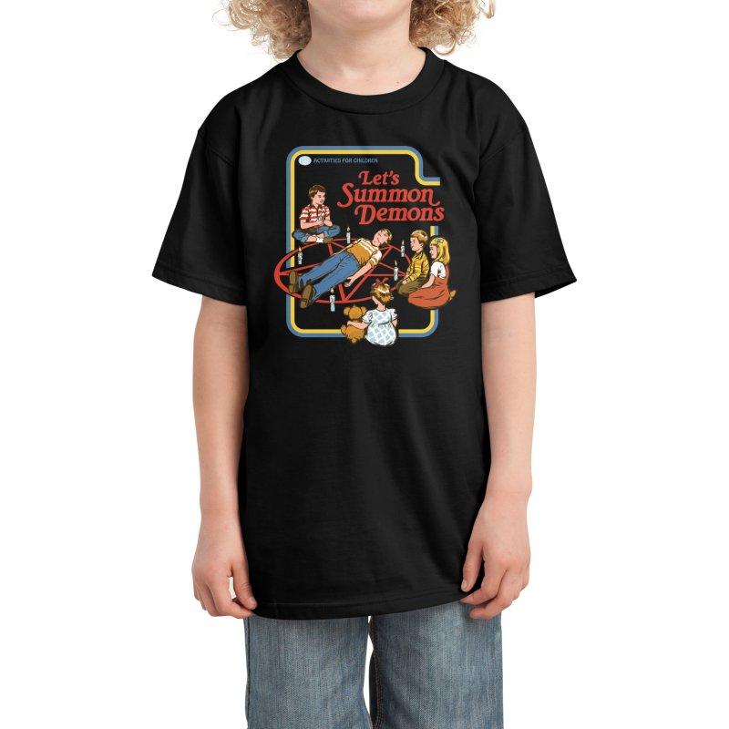 Let's Summon Demons (Black Variant) Kids T-Shirt by Threadless Artist Shop