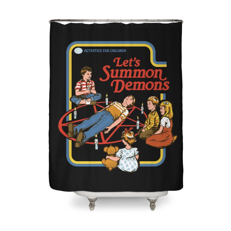 Let's Summon Demons (Black Variant) Home Shower Curtain by Threadless Artist Shop