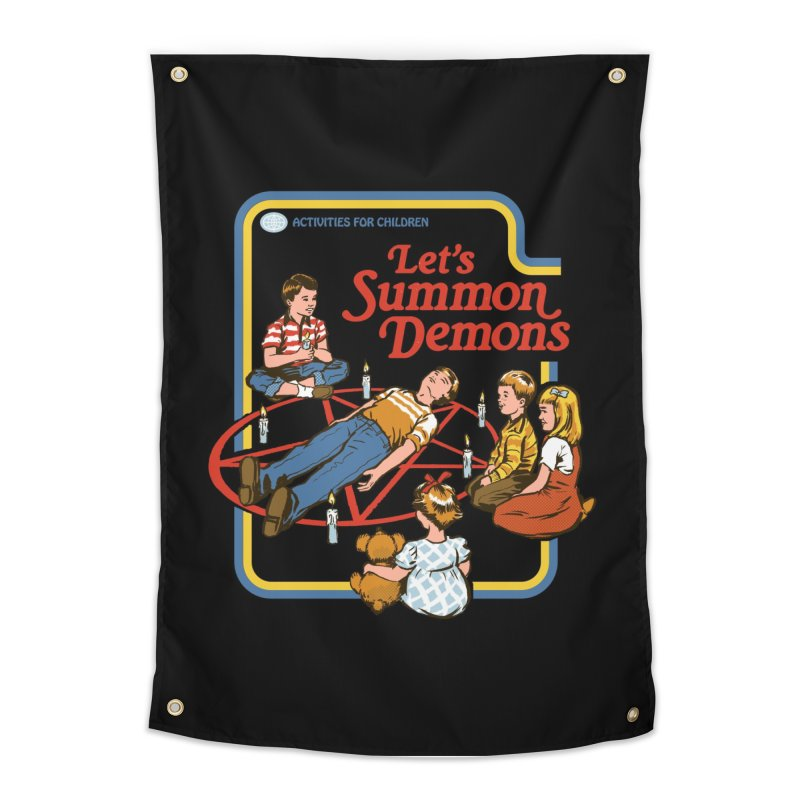 Let's Summon Demons (Black Variant) Home Tapestry by Threadless Artist Shop