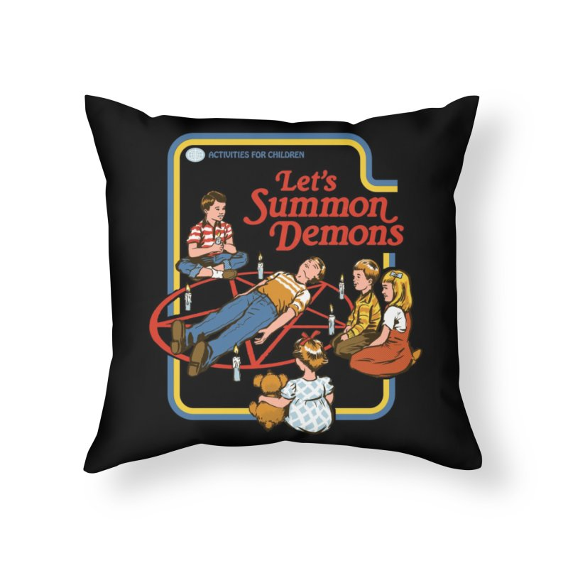 Let's Summon Demons (Black Variant) Home Throw Pillow by Threadless Artist Shop