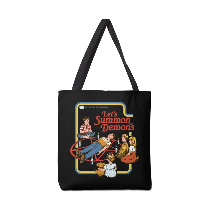 Let's Summon Demons (Black Variant) Accessories Bag by Threadless Artist Shop