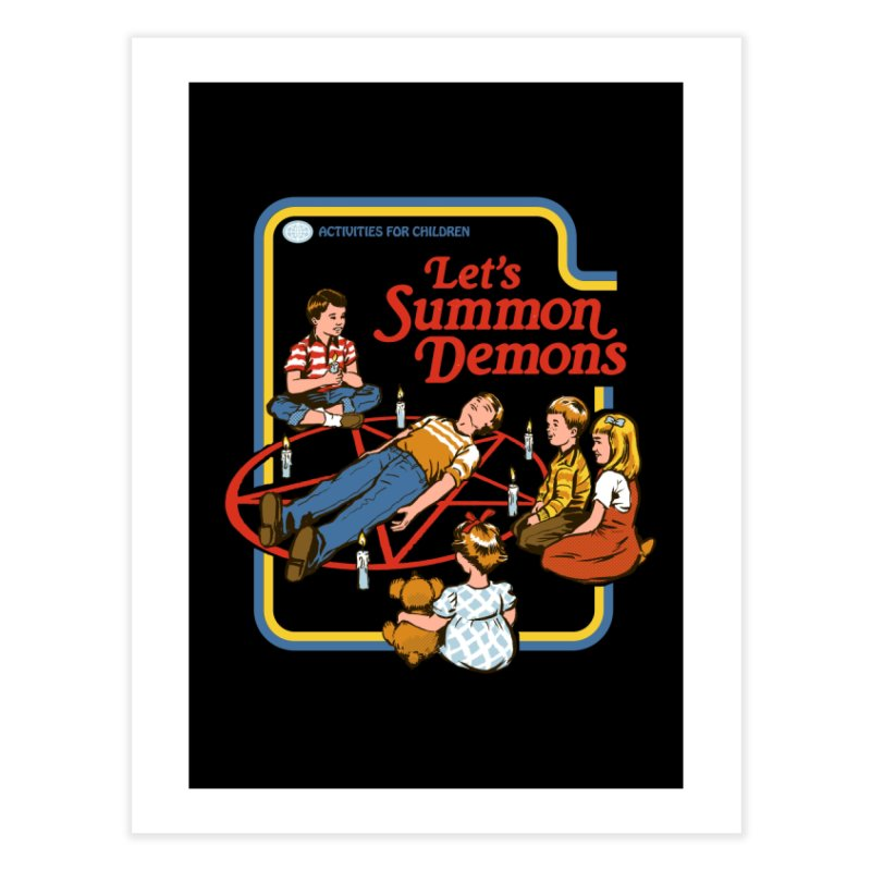 Let's Summon Demons (Black Variant) Home Fine Art Print by Threadless Artist Shop