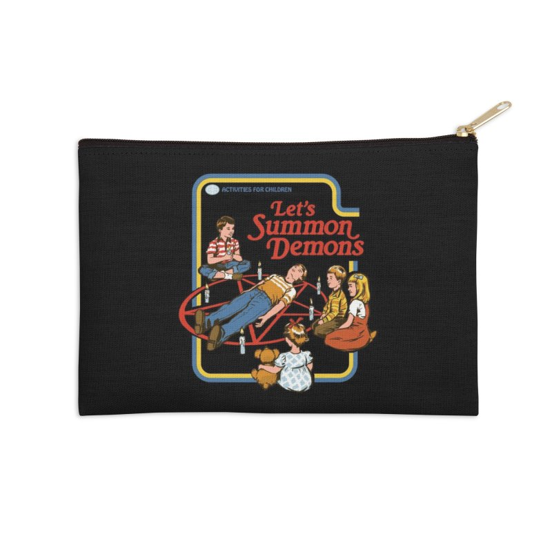 Let's Summon Demons (Black Variant) Accessories Zip Pouch by Threadless Artist Shop