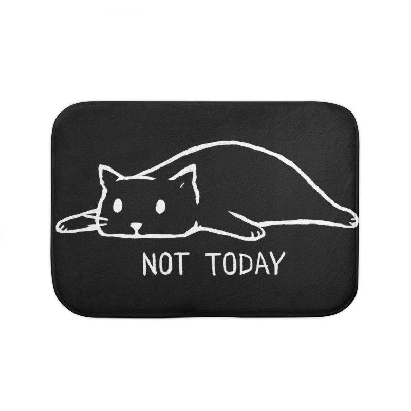 Not Today (Black Variant) Home Bath Mat by Threadless Artist Shop