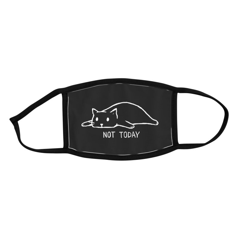 Not Today (Black Variant) Accessories Face Mask by Threadless Artist Shop