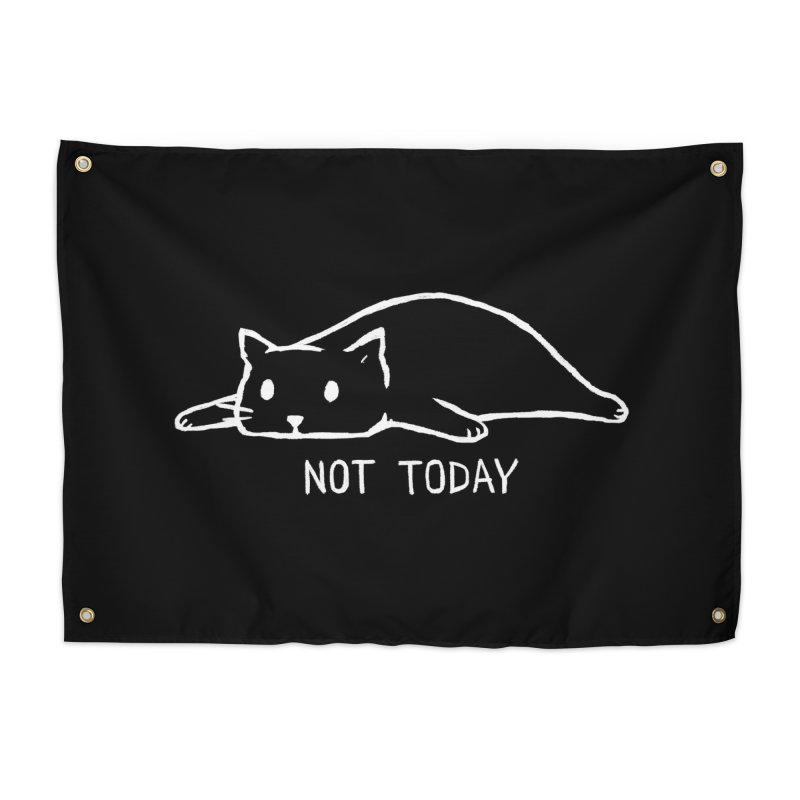 Not Today (Black Variant) Home Tapestry by Threadless Artist Shop