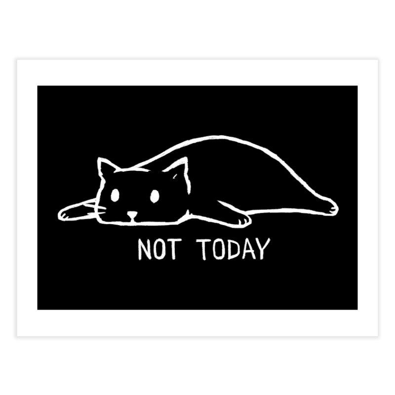 Not Today (Black Variant) Home Fine Art Print by Threadless Artist Shop