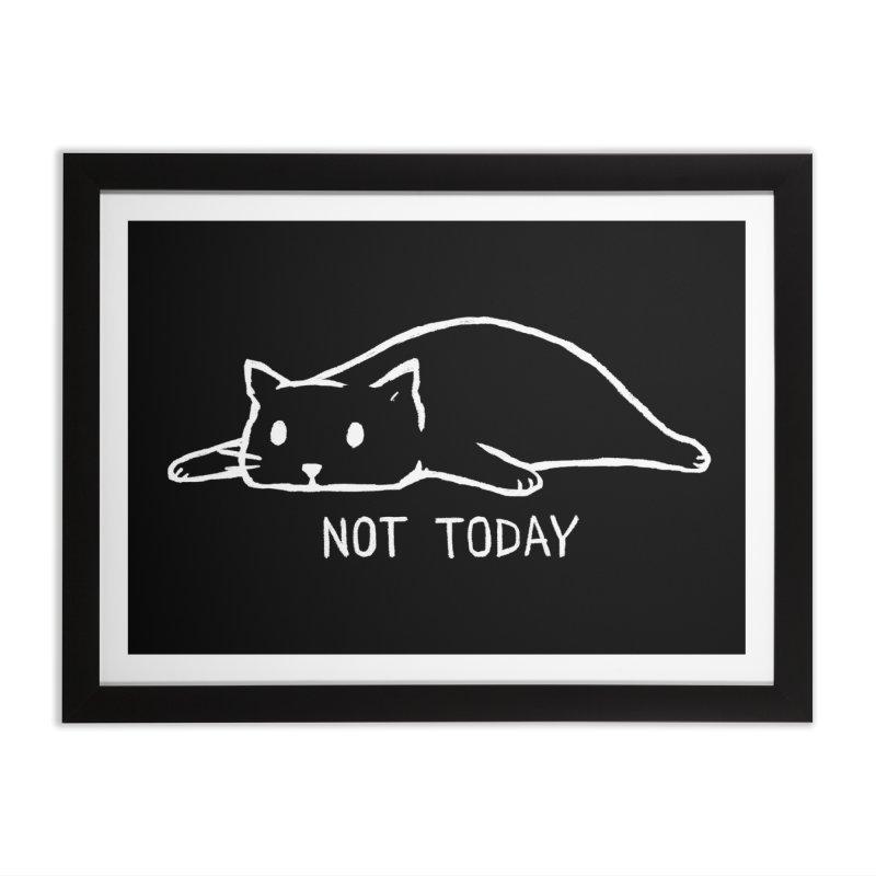 Not Today (Black Variant) Home Framed Fine Art Print by Threadless Artist Shop