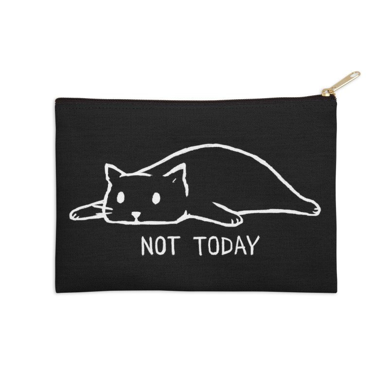 Not Today (Black Variant) Accessories Zip Pouch by Threadless Artist Shop