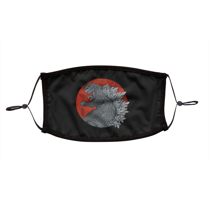 Tokyo Kaiju (Black Variant) Accessories Face Mask by Threadless Artist Shop