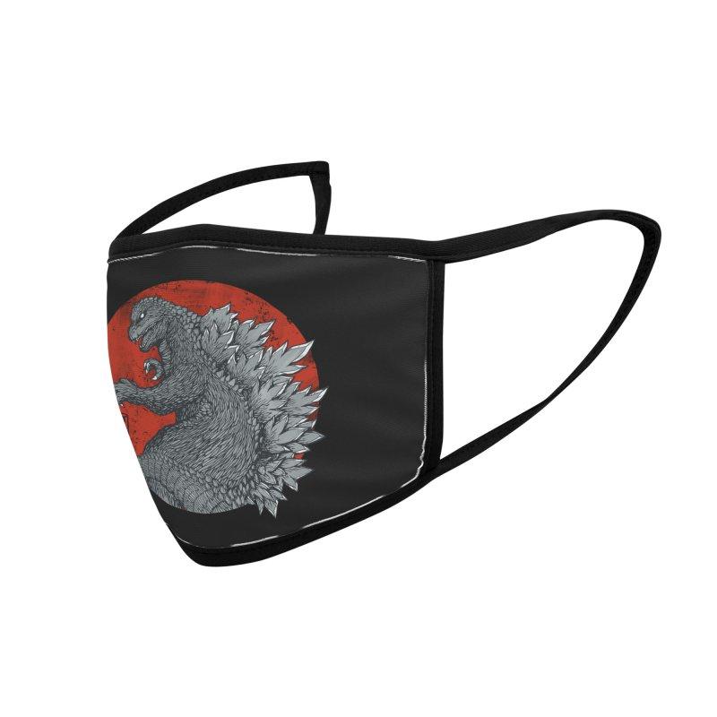 Tokyo Kaiju (Black Variant) Accessories Face Mask by Threadless Artist Shop