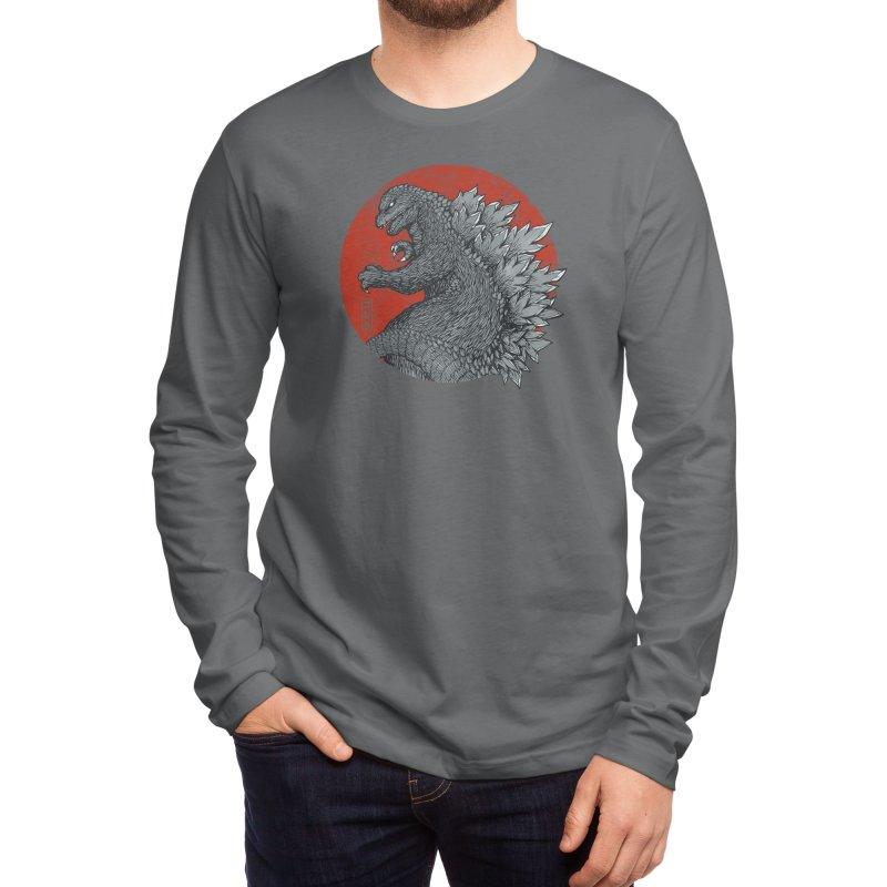 Tokyo Kaiju (Black Variant) Men's Longsleeve T-Shirt by Threadless Artist Shop