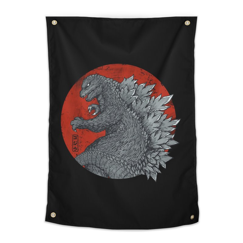 Tokyo Kaiju (Black Variant) Home Tapestry by Threadless Artist Shop