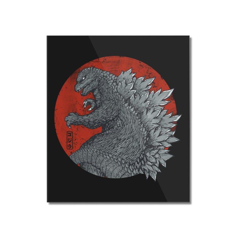 Tokyo Kaiju (Black Variant) Home Mounted Acrylic Print by Threadless Artist Shop