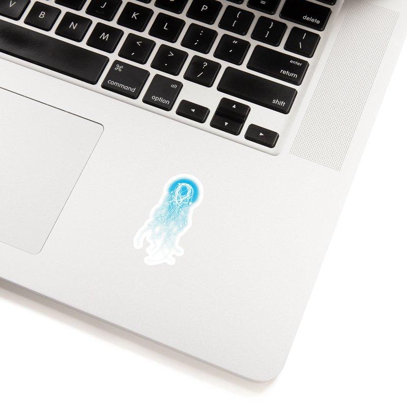 Electric Jellyfish (Black Variant) Accessories Sticker by Threadless Artist Shop
