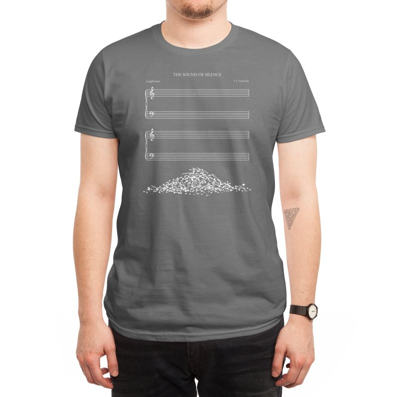 The Sound of Silence (Black Variant) Men's T-Shirt by Threadless Artist Shop