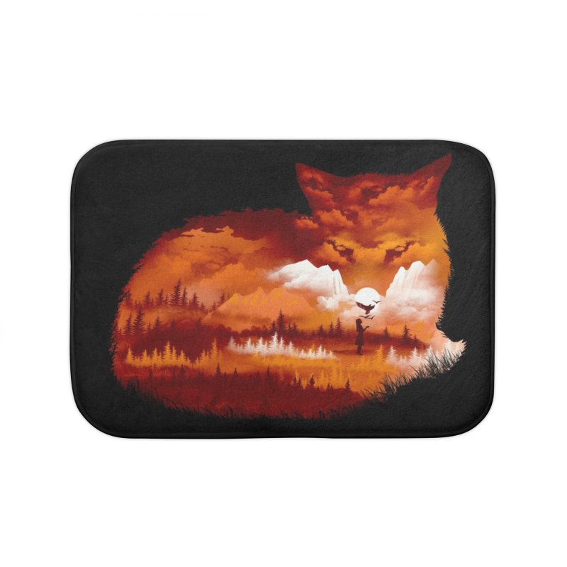 The Girl in the Red Forest (Black Variant) Home Bath Mat by Threadless Artist Shop